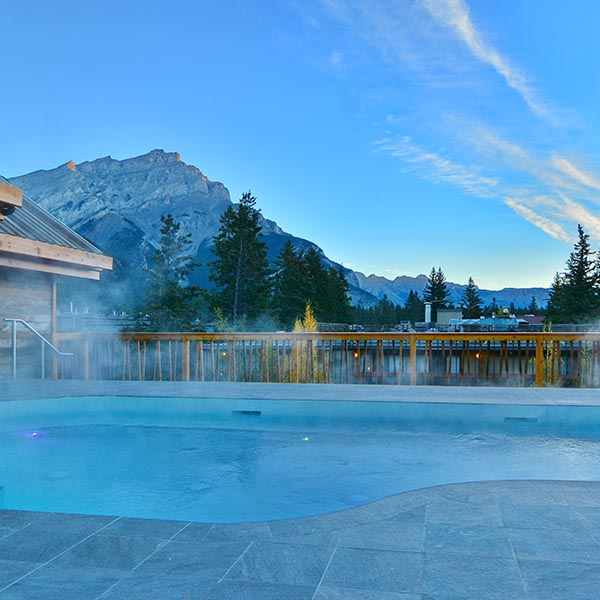 Banff Ski Experience Moose Hotel Rooftop Hot Pools
